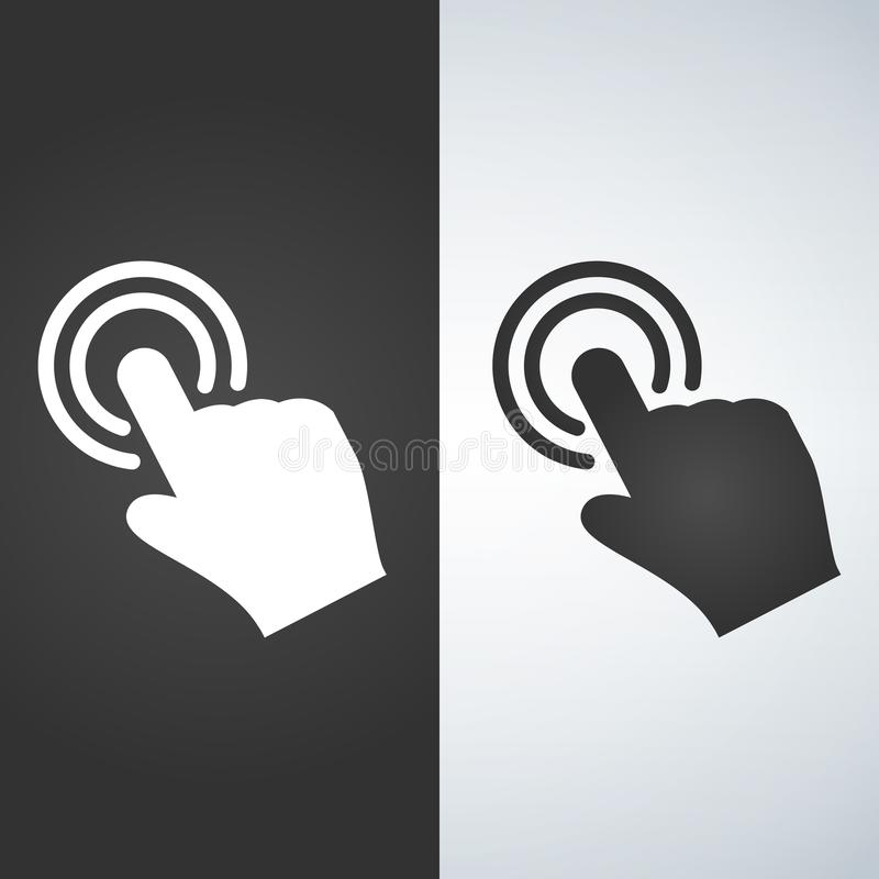 Ícone da mão do toque ilustração do vetor