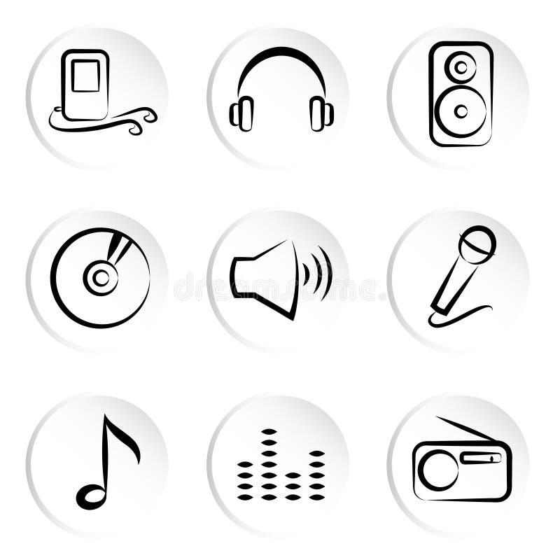 Ícone da música ilustração royalty free