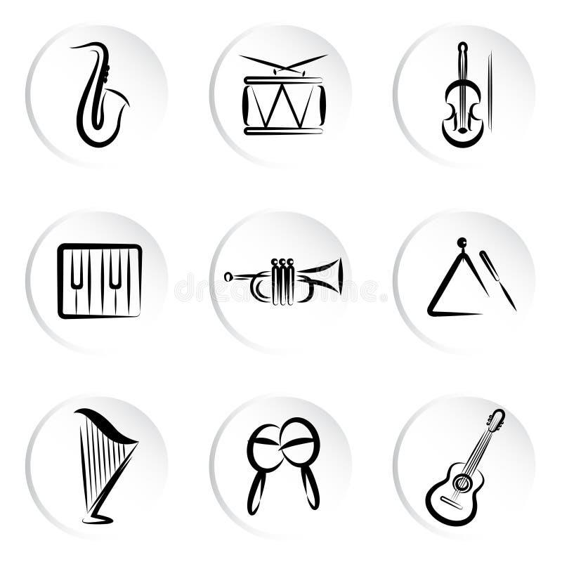 Ícone da música ilustração do vetor