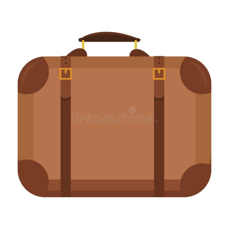 Ícone da mala de viagem do curso ilustração do vetor