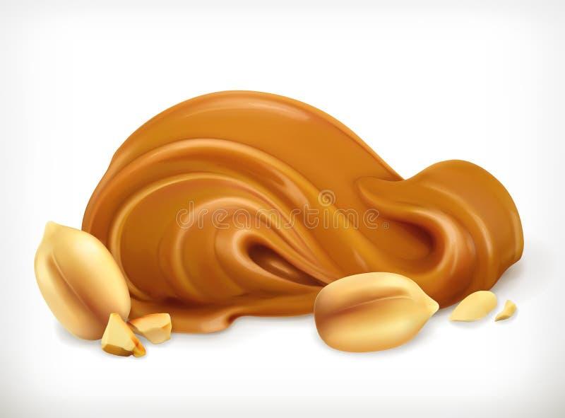 Ícone da manteiga de amendoim ilustração do vetor