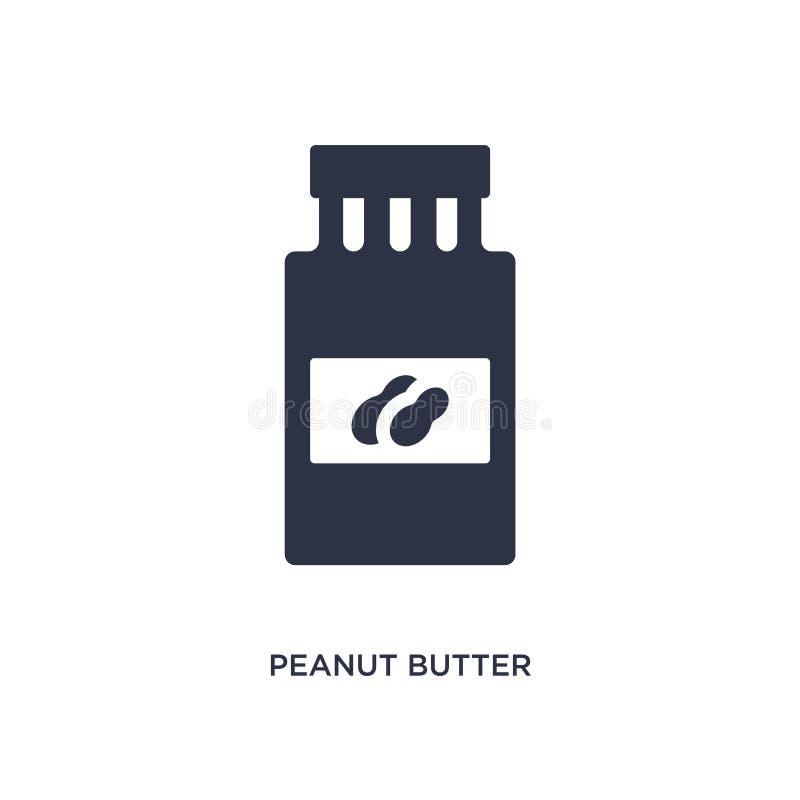 ícone da manteiga de amendoim no fundo branco Ilustração simples do elemento do conceito do fast food ilustração do vetor