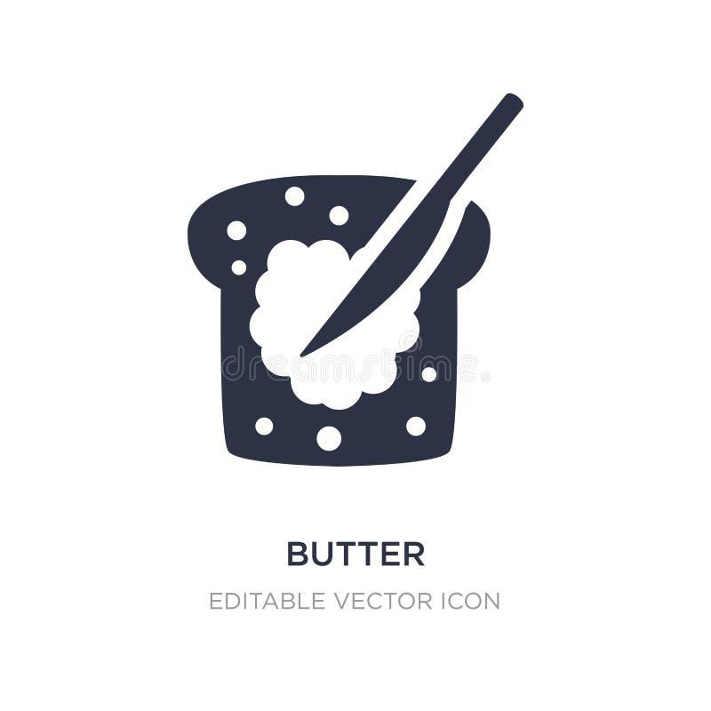 ícone da manteiga no fundo branco Ilustração simples do elemento do conceito do alimento ilustração do vetor