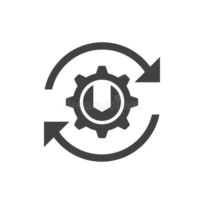 Ícone da manutenção da atualização ilustração do vetor