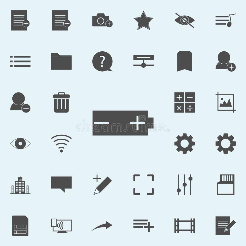 ícone da marca da bateria grupo universal dos ícones da Web para a Web e o móbil ilustração royalty free