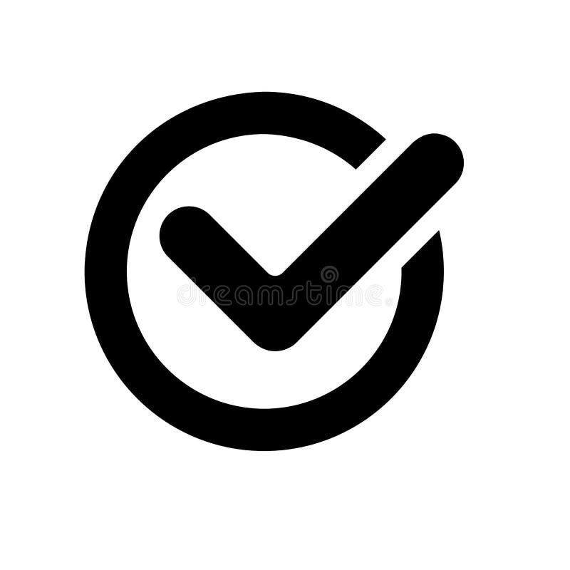 Ícone da marca de verificação ilustração stock