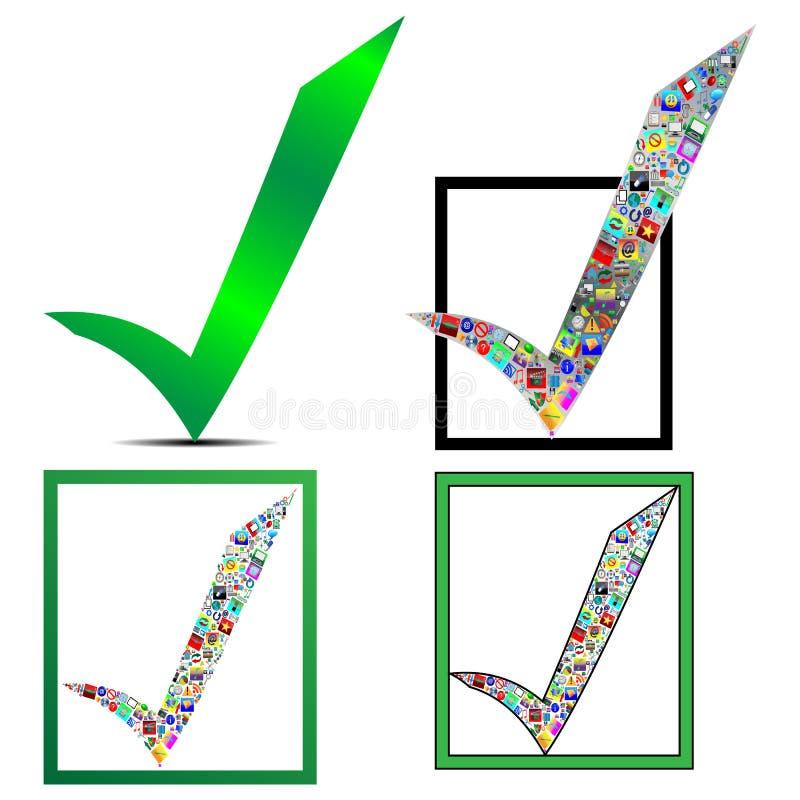 Ícone da marca de verificação ilustração royalty free