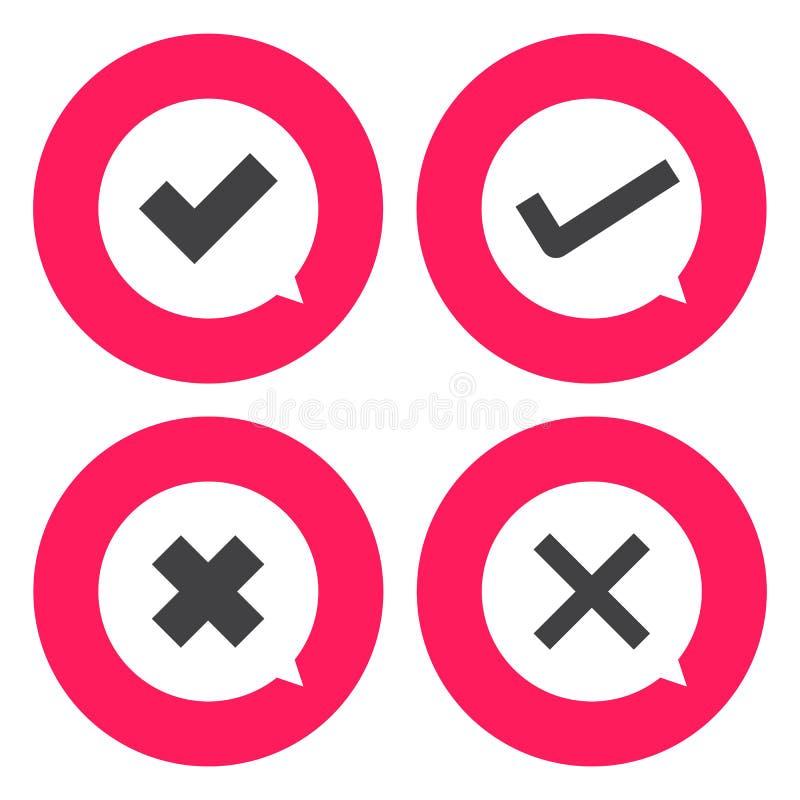 Download Ícone Da Marca De Verificação Ilustração do Vetor - Ilustração de escolha, ilustração: 65581491