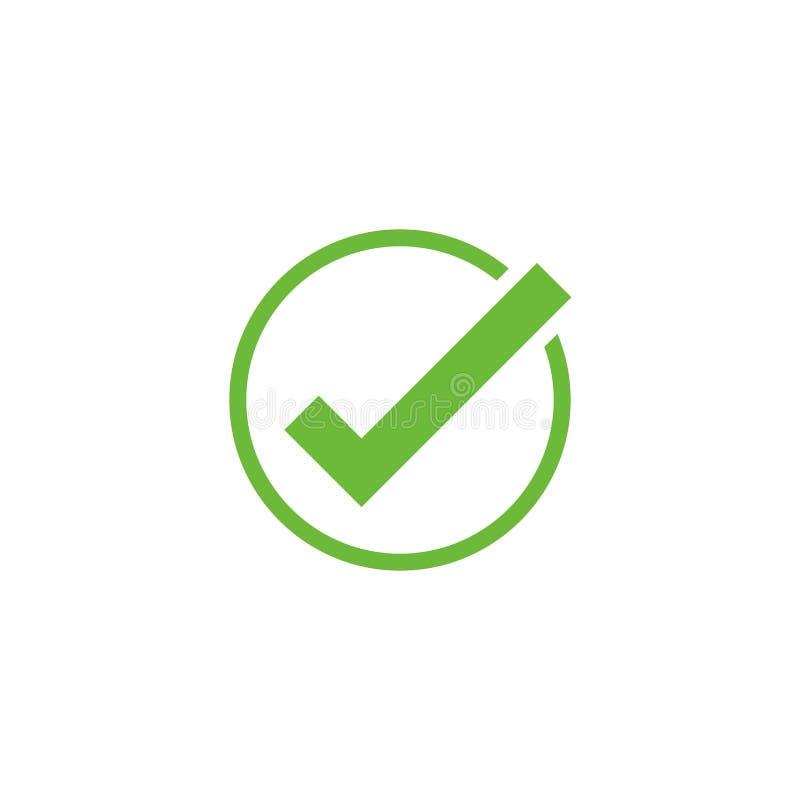 Ícone da marca de verificação do vetor Aprove o símbolo Verifique a forma da marca Cartão de relação do app do elemento do projet ilustração royalty free