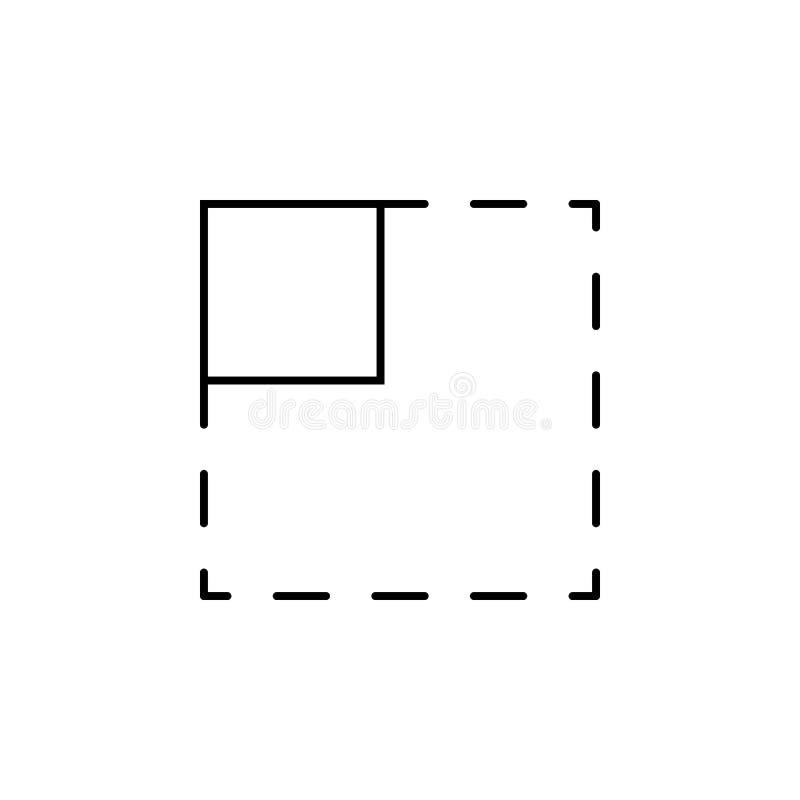 ícone da marca da seleção da área Elemento do ícone simples para Web site, design web, app móvel, gráficos da informação Linha fi ilustração stock
