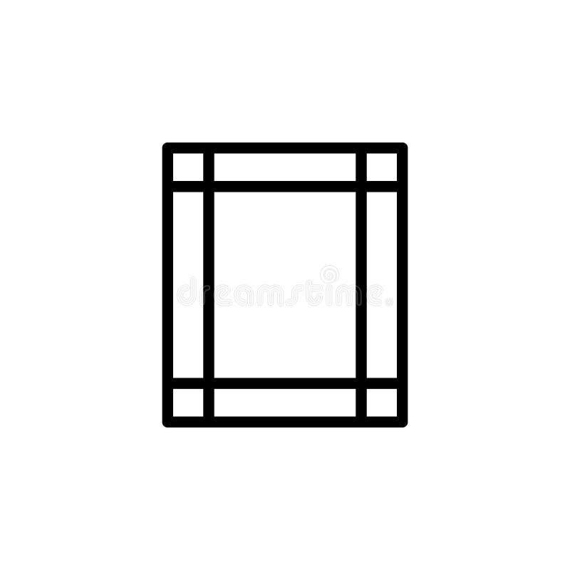 Ícone da margem Pode ser usado para a Web, logotipo, app móvel, UI, UX ilustração do vetor