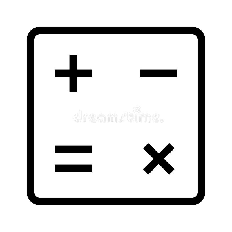 Ícone da matemática ilustração stock
