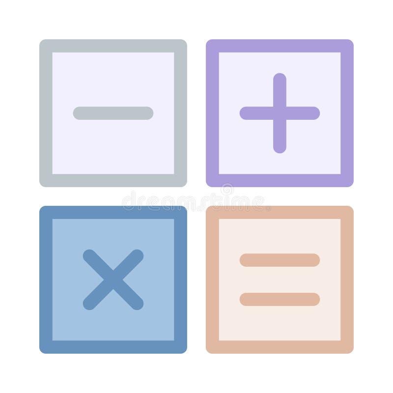 Ícone da matemática ilustração do vetor