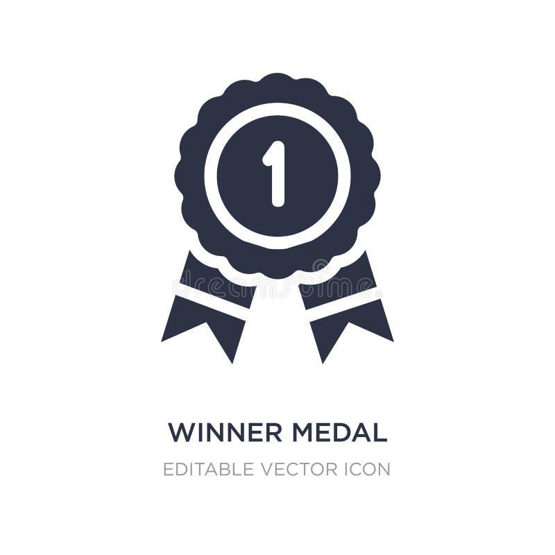 ícone da medalha do vencedor no fundo branco Ilustração simples do elemento de Seo e de conceito da Web ilustração do vetor
