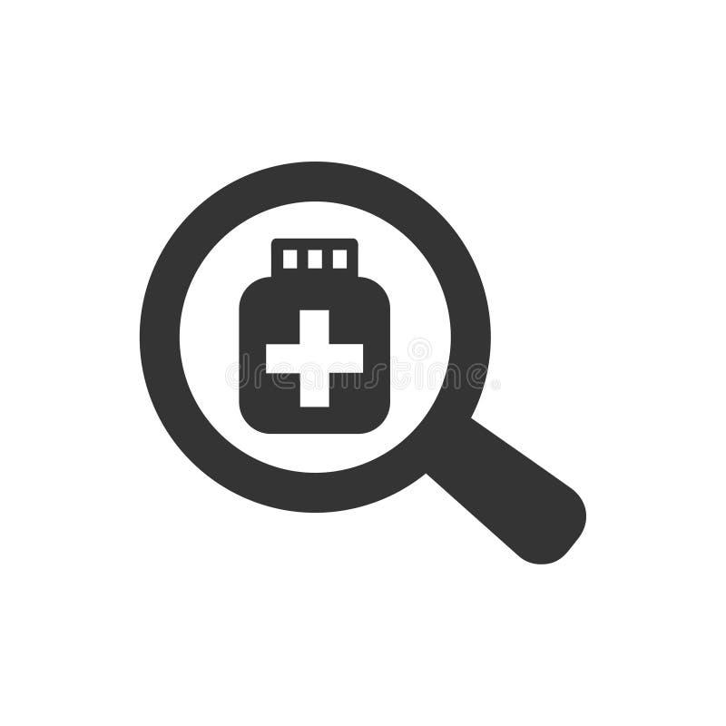 Ícone da medicina do achado ilustração stock