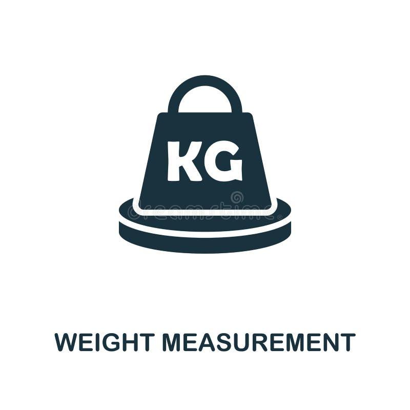 Ícone da medida do peso Projeto monocromático do estilo da coleção do ícone da medida UI e UX Ico perfeito da medida do peso do p ilustração do vetor
