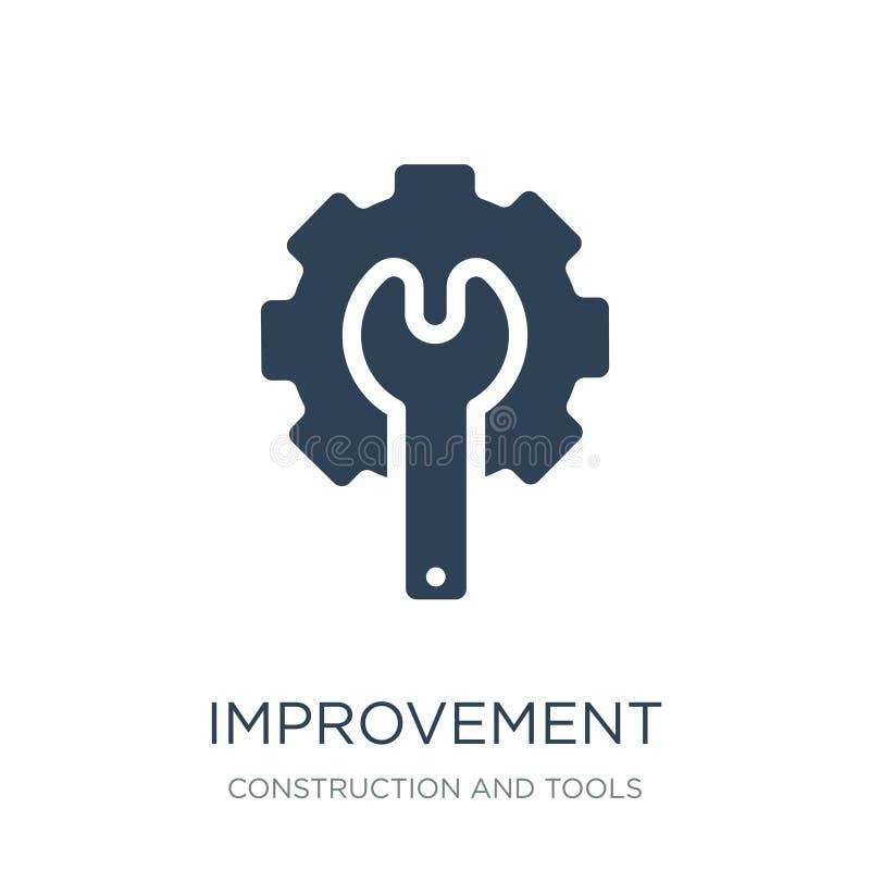 ícone da melhoria no estilo na moda do projeto ícone da melhoria isolado no fundo branco ícone do vetor da melhoria simples e mod ilustração do vetor
