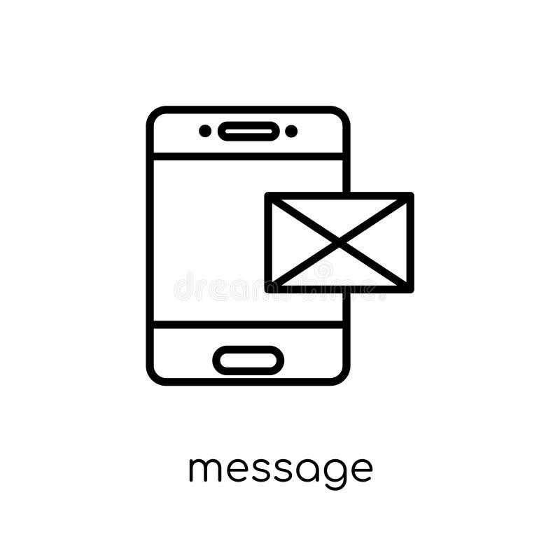 Ícone da mensagem da coleção de uma comunicação ilustração stock