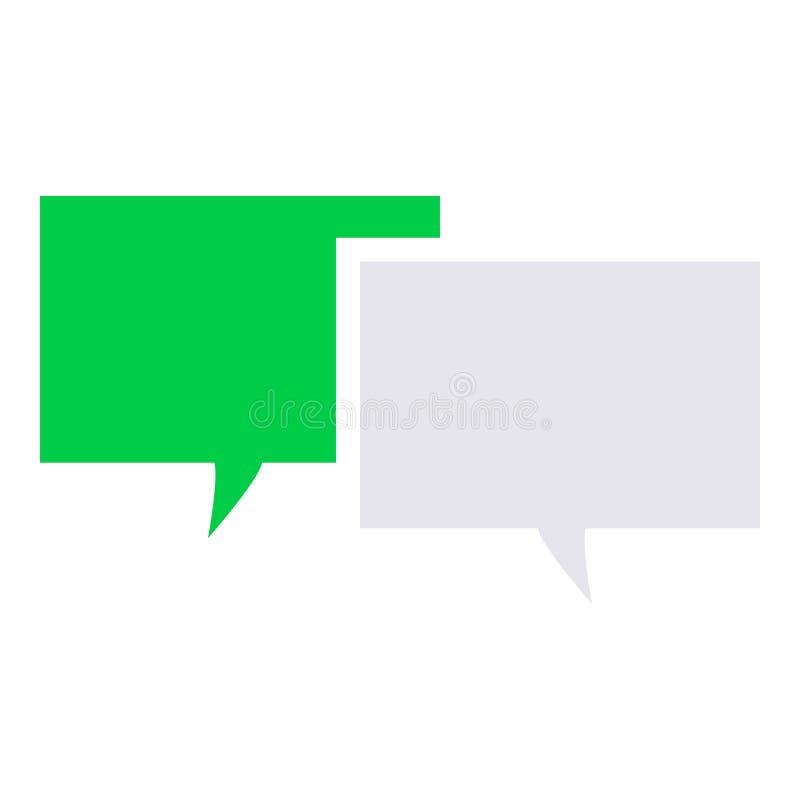 Ícone da mensagem de texto ilustração stock