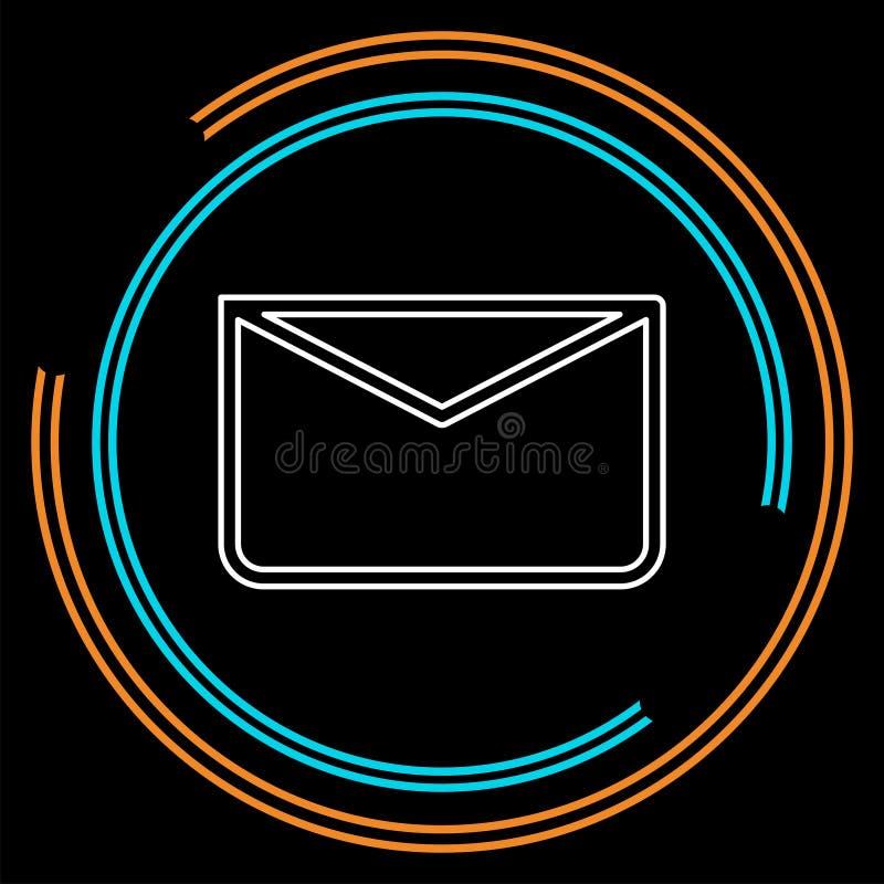Ícone da mensagem, ilustração do envelope - correio do vetor ilustração royalty free