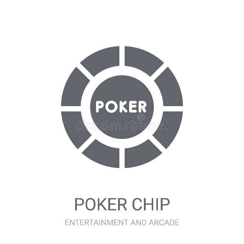Ícone da microplaqueta de pôquer  ilustração do vetor