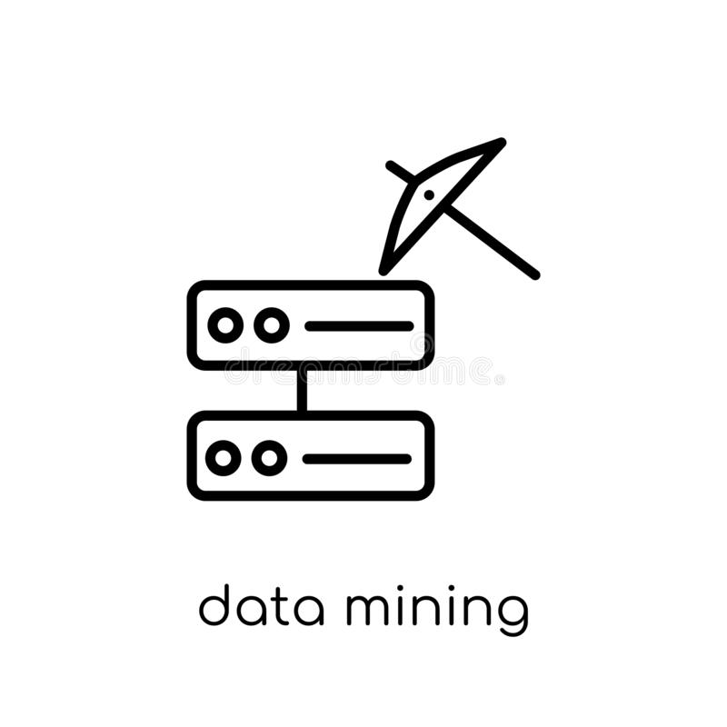 Ícone da mineração de dados  ilustração do vetor
