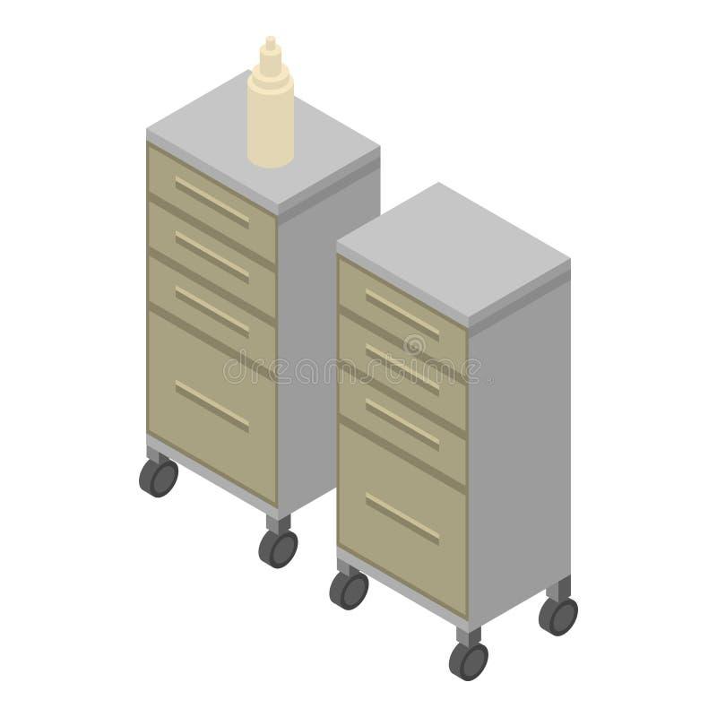 Ícone da mobília da cirurgia, estilo isométrico ilustração stock
