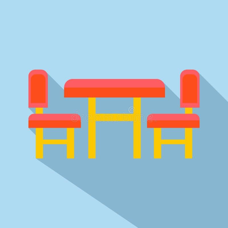 Ícone da mobília das crianças, estilo liso ilustração do vetor