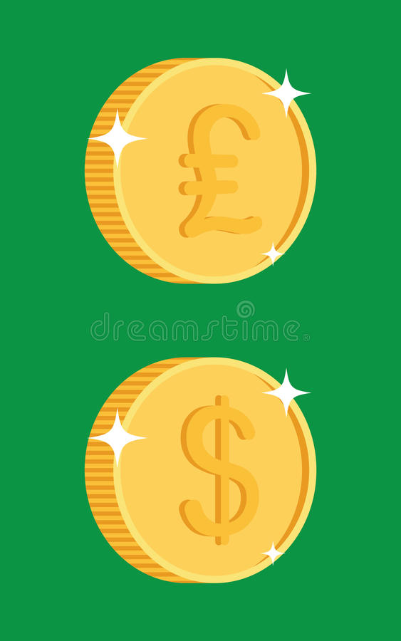 Ícone da moeda de ouro ilustração stock