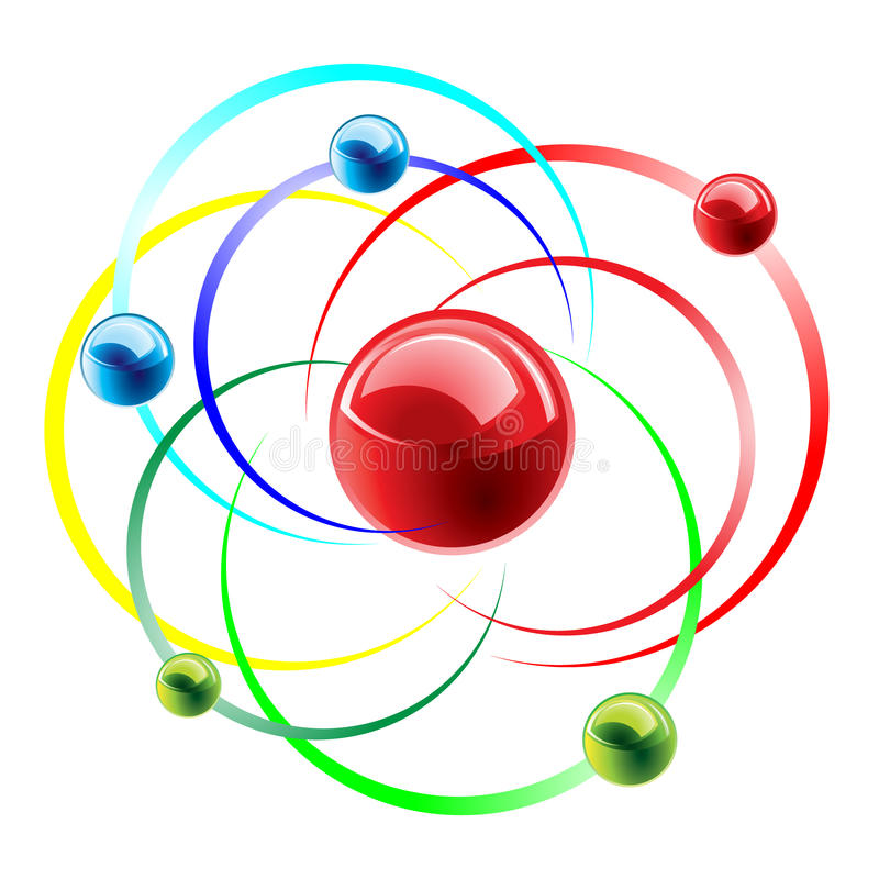 Ícone da molécula ilustração do vetor
