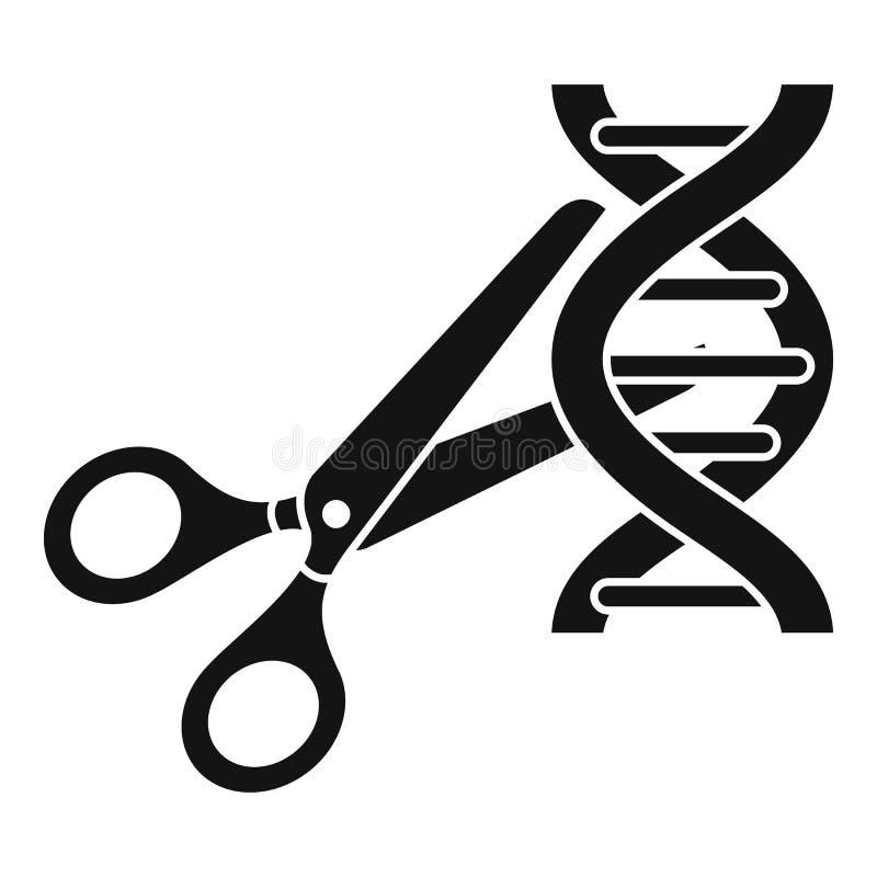 Ícone da molécula do ADN de Cutted, estilo simples ilustração stock