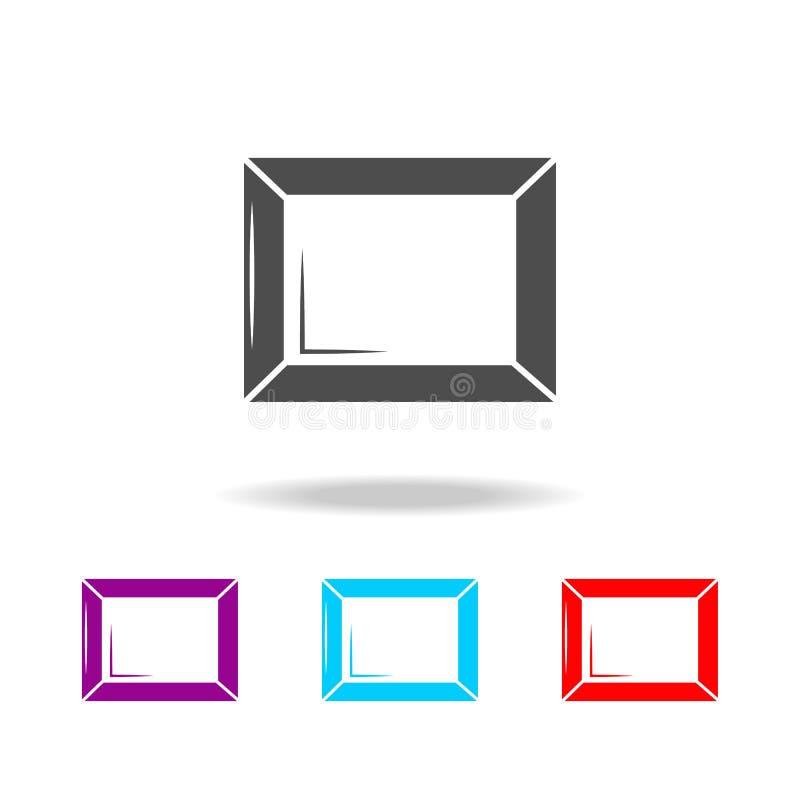 Ícone da moldura para retrato Os elementos da arte utilizam ferramentas multi ícones coloridos Ícone superior do projeto gráfico  ilustração stock