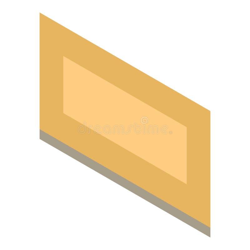 Ícone da moldura para retrato da parede, estilo isométrico ilustração do vetor