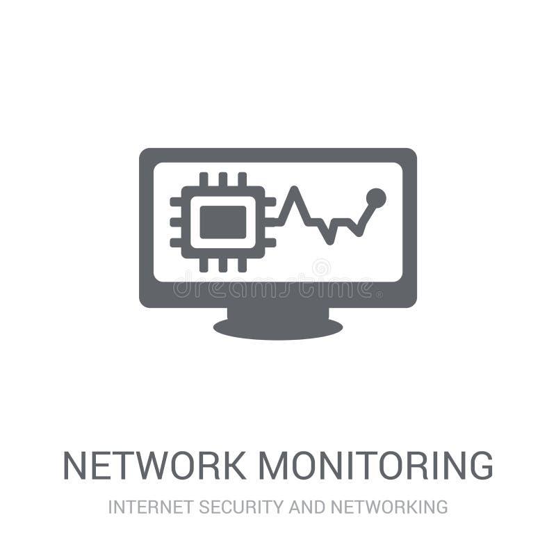 ícone da monitoração da rede  ilustração do vetor