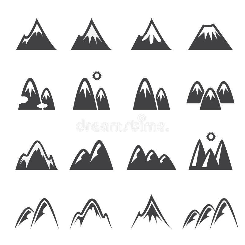 Ícone da montanha ilustração do vetor