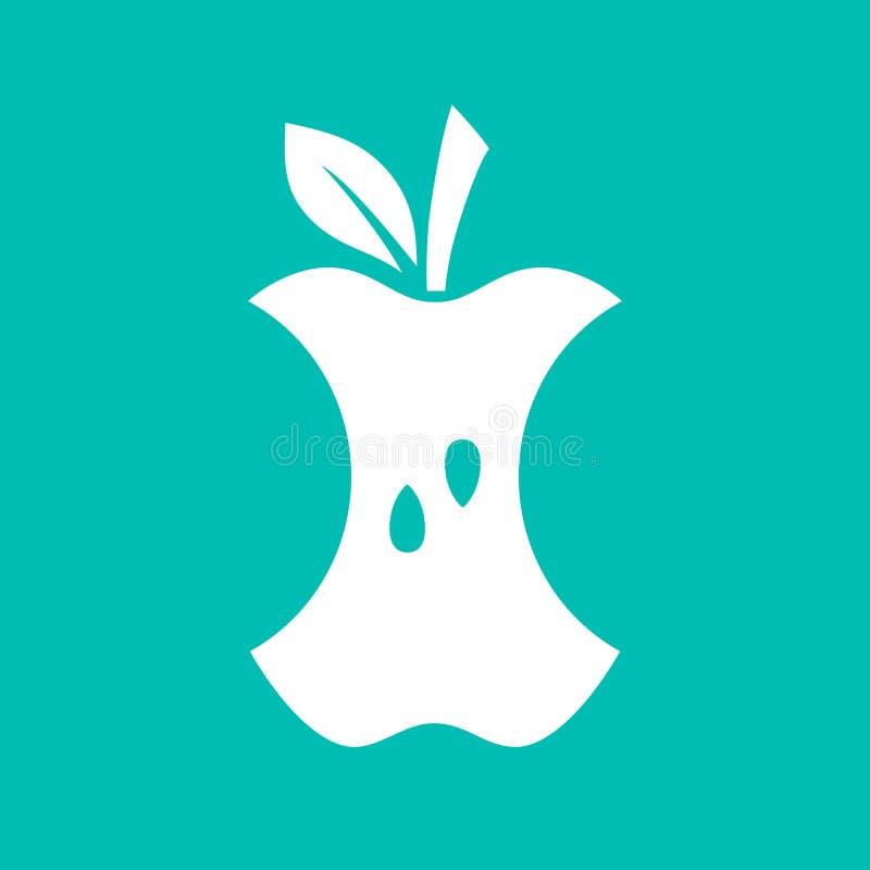 Ícone da mordida de Apple ilustração royalty free