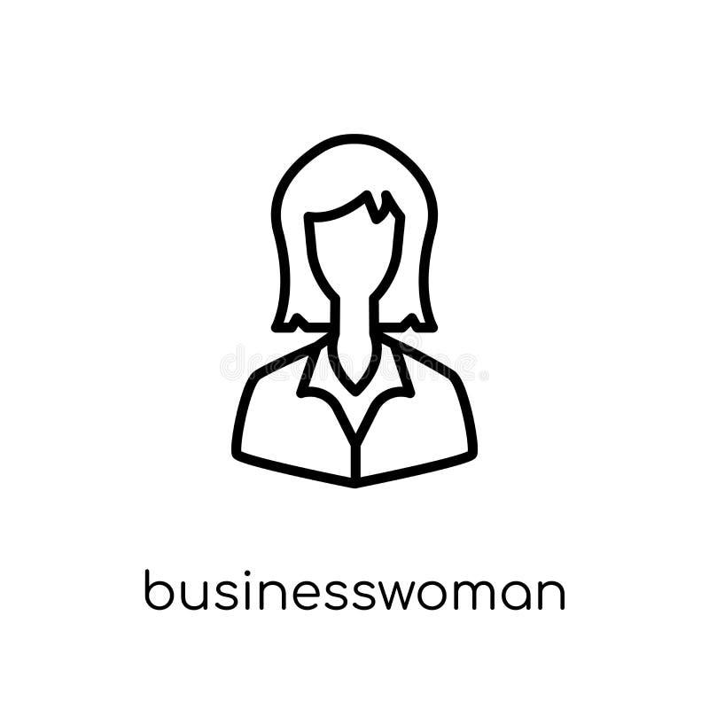 Ícone da mulher de negócios  ilustração do vetor