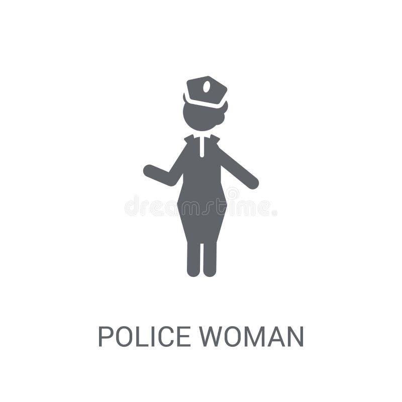 Ícone da mulher da polícia  ilustração royalty free