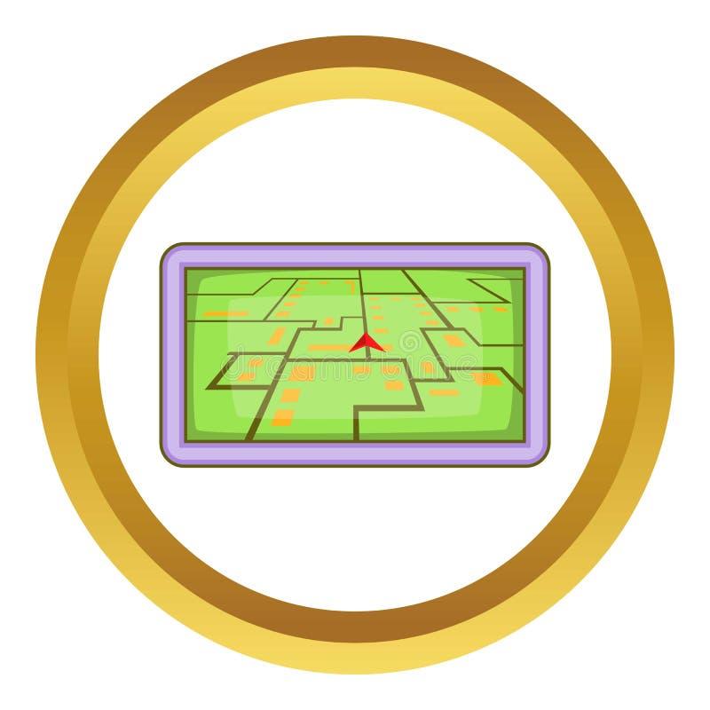 Ícone da navegação de GPS ilustração stock