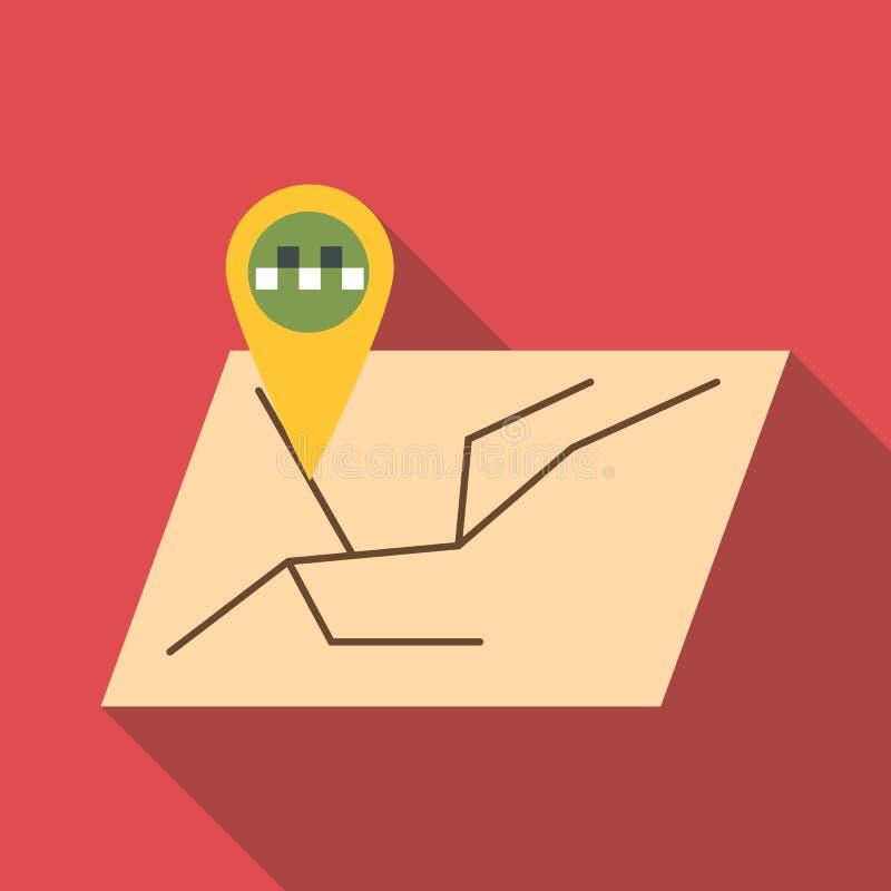 Ícone da navegação de GPS, estilo liso ilustração stock