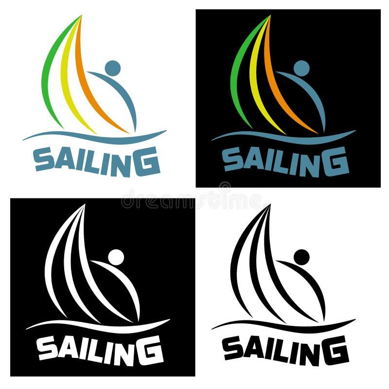 Ícone da navigação para competições de esportes e clubes da água Vector o mal ilustração royalty free
