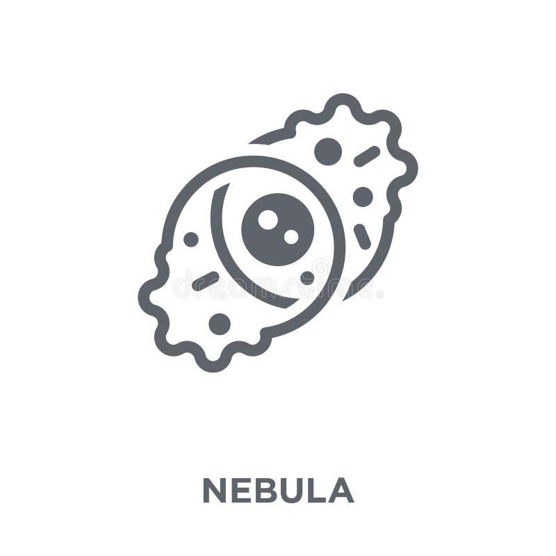 Ícone da nebulosa da coleção da astronomia ilustração stock