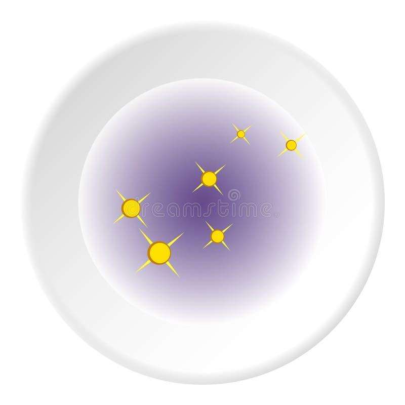 Ícone da nebulosa, estilo dos desenhos animados ilustração royalty free