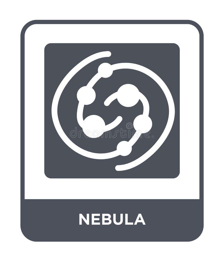 ícone da nebulosa no estilo na moda do projeto ícone da nebulosa isolado no fundo branco símbolo liso simples e moderno do ícone  ilustração royalty free