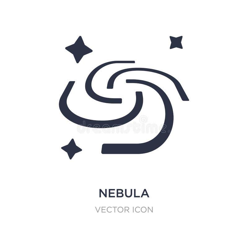 ícone da nebulosa no fundo branco Ilustração simples do elemento do conceito da astronomia ilustração stock