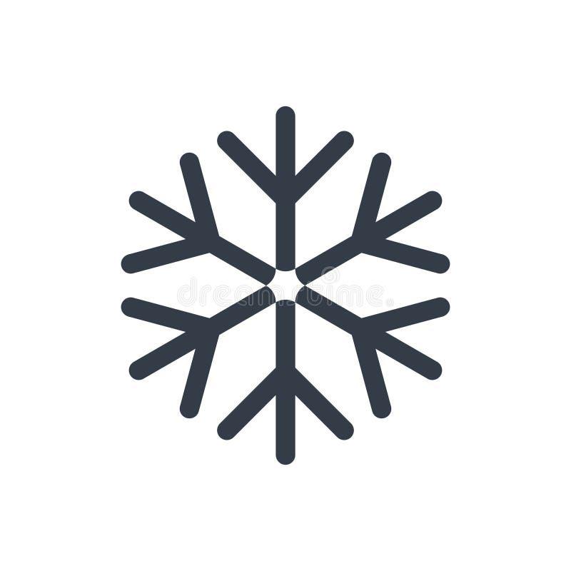 Ícone da neve ilustração royalty free
