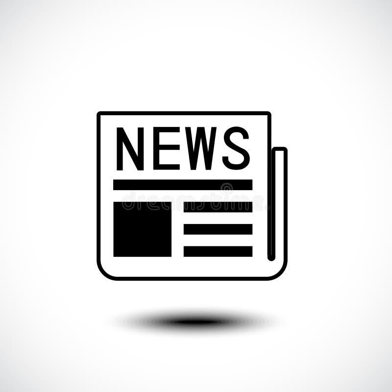 Ícone da notícia ilustração do vetor
