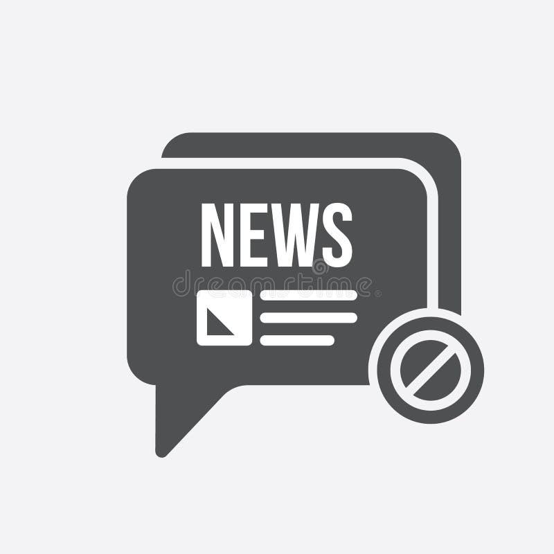 Ícone da notícia com sinal não permitido O ícone e o bloco da notícia, proibidos, proibem o símbolo ilustração do vetor