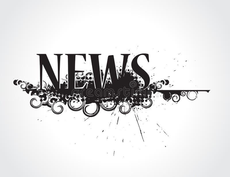 Ícone da notícia de Grunge ilustração stock