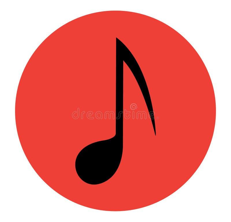 Ícone da nota da música ilustração do vetor
